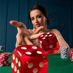 dame aan het gokken